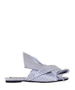 No21 | Атласные Туфли-Мюли С Бантом 10mm