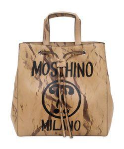 Moschino | Кожаная Сумка С Принтом