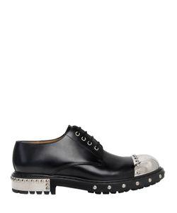 Alexander McQueen | Кожаные Ботинки С Металлическим Мысом