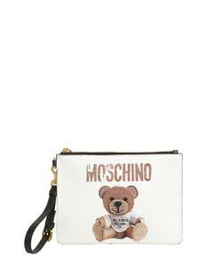 Moschino   Клатч Teddy Bear Из Искусственной Кожи
