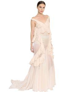 Francesco Scognamiglio | Платье Из Прозрачного Шёлкового Шифона