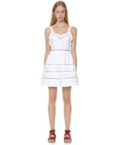 Red Valentino | Ruffled Cotton Poplin Mini Dress