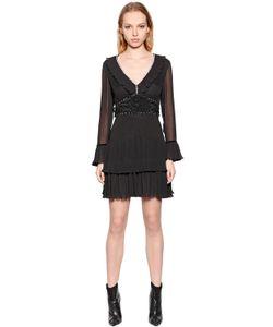 Just Cavalli | Платье Из Вискозного Крепа Со Стразами