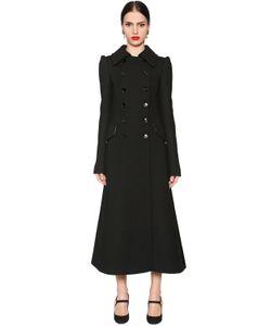 Dolce & Gabbana | Двубортное Пальто Из Шерстяного Крепа