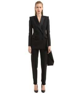 Alexander McQueen | Light Wool Silk Blend Jacket With Tail