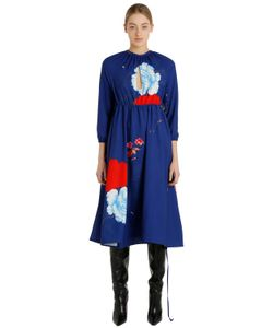 VETEMENTS | Printed Cutouts Crepe Midi Dress