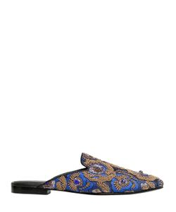 Queen Bee | 10mm Embellished Jacquard Mules