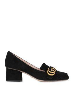 Gucci | Замшевые Туфли Marmont С Бахромой 55mm