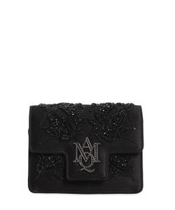 Alexander McQueen | Insignia Beaded Silk Satin Clutch