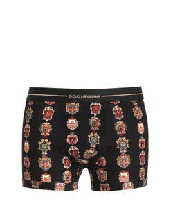Dolce & Gabbana | Трусы-Боксеры Из Хлопкового Джерси С Принтом