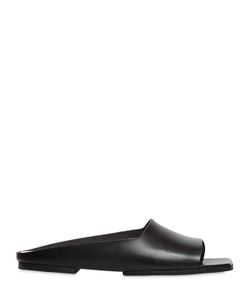 Marsell | 10mm Square Toe Leather Slide Sandals