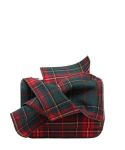 No21 | Сумка Из Шотландки С Декоративным Узлом