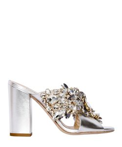 Gedebe | 100mm Crystal Leather Sandals