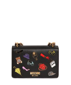 Moschino | Iconic Pins Leather Shoulder Bag