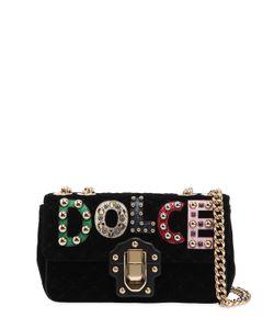 Dolce & Gabbana | Бархатная Сумка Lucia С Логотипом