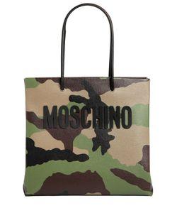 Moschino | Кожаная Сумка С Камуфляжным Принтом