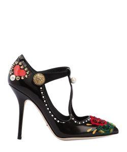 Dolce & Gabbana | Кожаные Туфли Mary Jane 100Мм