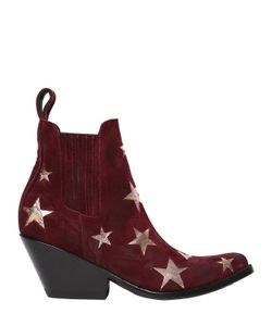 Mexicana | 65mm Stars Brushed Suede Ankle Boots