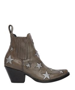 Mexicana | 65mm Stars Leather Ankle Boots