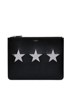 Givenchy | Кожаный Клатч С Деталями В Виде Звёзд