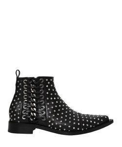 Alexander McQueen | Кожаные Ботинки С Заклёпками И Шнуровкой 20mm