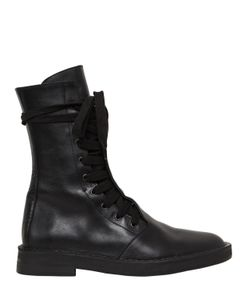 Ann Demeulemeester | Кожаные Ботинки-Комбат На Шнуровке 20mm