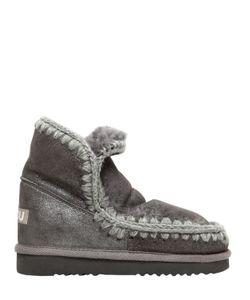 Mou | Ботинки Eskimo 40 Из Овчины С Эффектом Металлик