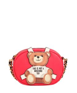 Moschino | Teddy Bear Tab Faux Leather Shoulder Bag