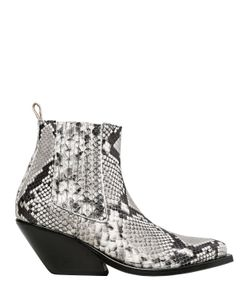 Gaia D'Este | 70mm Python Printed Leather Ankle Boots