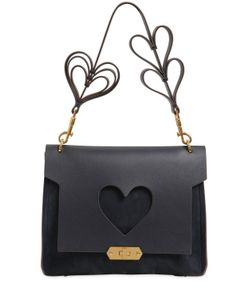 Anya Hindmarch | Xs Bathurst Heart Suede Satchel
