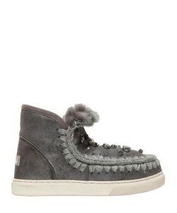 Mou | Ботинки Mini Eskimo С Вышивкой 40mm
