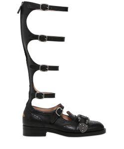 Gucci | Кожаные Туфли Модель Гладиатор 20mm
