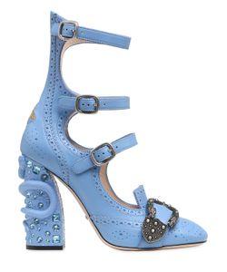 Gucci | Кожаные Ботильоны С Пряжками 110mm