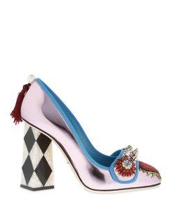 Dolce & Gabbana | Кожаные Туфли С Зеркальным Эффектом 100Мм