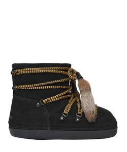 Dsquared2 | Замшевые Ботинки С Меховыми Кисточками