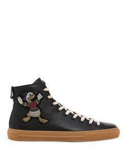 Gucci | Кожаные Кроссовки С Вышивкой