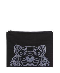 Kenzo | Клатч Из Нейлонового Канвас С Вышитым Тигром