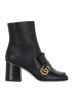 Gucci | Кожаные Сапоги Marmont С Бахромой 75mm