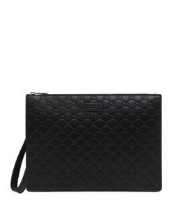 Gucci | Кожаный Клатч С Фирменным Тиснением Gg