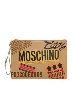 Moschino   Кожаный Клатч Cardboard Box