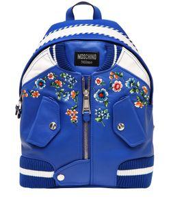 Moschino | Кожаный Рюкзак Bomber С Вышивкой