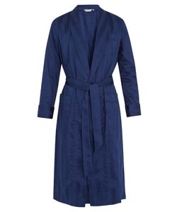 Derek Rose | Lingfield Cotton-Striped Bathrobe