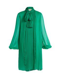 By. Bonnie Young | Neck-Tie Silk-Chiffon Dress