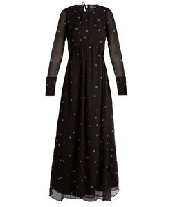 Jupe By Jackie | Tom Collins Flower-Embroidered Silk Maxi Dress