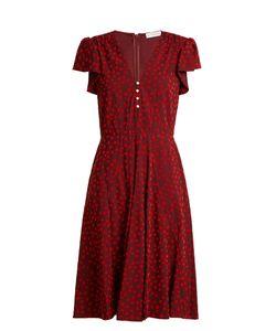 Altuzarra | Camilla Flocked Spot-Print Cady Dress