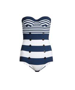 Dolce & Gabbana | Stripe-Print Balconette Swimsuit