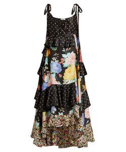 ATTICO   Carmen And Star-Print Satin Dress