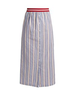 Stella Jean | Nobile Striped Cotton-Poplin Maxi Skirt