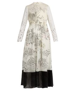 Valentino | Garden Of Delight-Print Silk-Chiffon Dress
