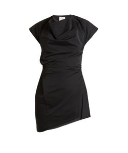 Rosie Assoulin | Asymmetric Draped-Front Taffeta Top